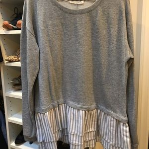 Sweatshirt with blouse
